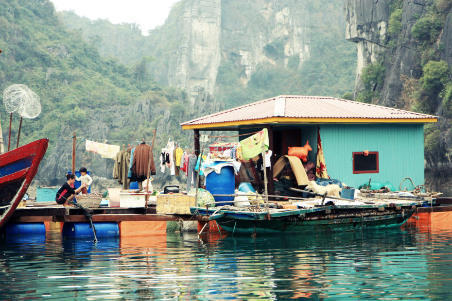 The floating fishing village. Photo by Andrea Schaffer.